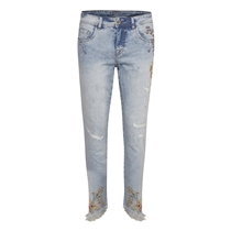Cream Sif Flower Bailey Jeans