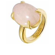 Sence Copenhagen TWL Ring Rose Quartz Gold - f158