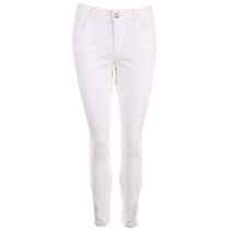 Isay Lucca Lace Jeans Bruten Vit