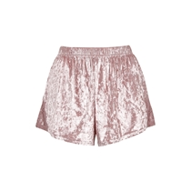 Bubbleroom Wilda velvet Shorts Rosa