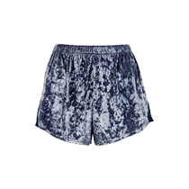 Bubbleroom Wilda velvet Shorts Blå